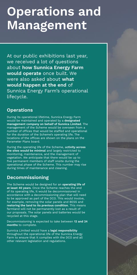 Construction and Operation of the Sunnica Energy Farm